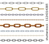 collection of various chain on... | Shutterstock . vector #1124314385