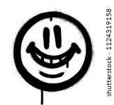 graffiti whimsical smile emojo... | Shutterstock .eps vector #1124319158