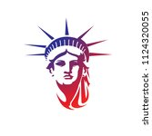 face of liberty | Shutterstock .eps vector #1124320055