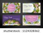 set of horizontalbusiness cards ... | Shutterstock .eps vector #1124328362