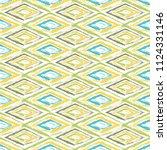 grunge textured rhombs seamless ... | Shutterstock .eps vector #1124331146