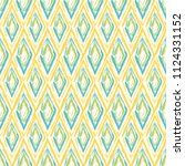 grunge textured rhombs seamless ... | Shutterstock .eps vector #1124331152