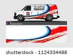 cargo van decal design....   Shutterstock .eps vector #1124334488