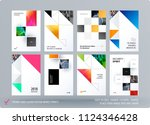 brochure design rectangular...   Shutterstock .eps vector #1124346428