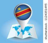 world map centered on africa... | Shutterstock .eps vector #1124351495