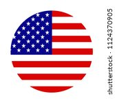 usa flag in the shape of a... | Shutterstock .eps vector #1124370905