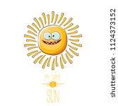 vector funky cartoon summer...   Shutterstock .eps vector #1124373152