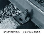 old railroad tracks in...   Shutterstock . vector #1124375555
