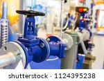 gate valves  water pipeline ... | Shutterstock . vector #1124395238