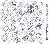 concept of education. school... | Shutterstock .eps vector #1124399105
