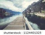riva del garda. italian... | Shutterstock . vector #1124401325