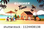 couple summer vacation man... | Shutterstock .eps vector #1124408138