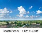 landscape of empty land plot... | Shutterstock . vector #1124413685