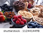 composition with different... | Shutterstock . vector #1124414498
