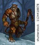 a fantasy were tiger creature...   Shutterstock . vector #1124418878