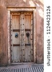 antique rustic ancient wooden... | Shutterstock . vector #1124423126
