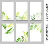collection of vector template... | Shutterstock .eps vector #1124430305