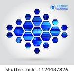 abstract hi tech background.... | Shutterstock .eps vector #1124437826