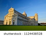 pisa leaning tower at sunset | Shutterstock . vector #1124438528
