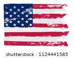 american grunge flag.vector... | Shutterstock .eps vector #1124441585