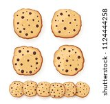 set of sweet cookies... | Shutterstock .eps vector #1124444258
