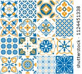 mediterranean pattern.... | Shutterstock .eps vector #1124451338