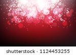 red magical stars falling... | Shutterstock .eps vector #1124453255