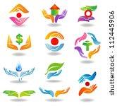 design elements with hands... | Shutterstock .eps vector #112445906