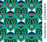 seamless pattern. african... | Shutterstock .eps vector #1124461826