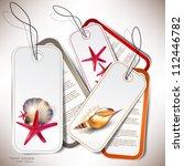 set of holiday badges  labels ... | Shutterstock .eps vector #112446782