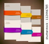 colorful bookmarks and arrows... | Shutterstock .eps vector #112446785