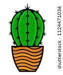cactus on a white background.... | Shutterstock .eps vector #1124471036