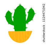 cactus on a white background.... | Shutterstock .eps vector #1124471042