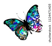 abstract picturesque butterfly | Shutterstock .eps vector #1124471405