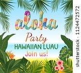 aloha hawaii. best creative... | Shutterstock .eps vector #1124472572