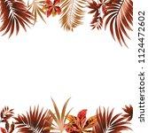 tropical jungle vector... | Shutterstock .eps vector #1124472602