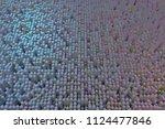 colorful 3d rendering. block ... | Shutterstock . vector #1124477846