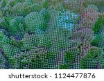 colorful 3d rendering. abstract ... | Shutterstock . vector #1124477876