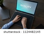 quality assurance. control and... | Shutterstock . vector #1124482145