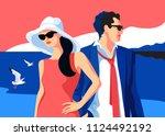 summer holidays resort time....   Shutterstock .eps vector #1124492192