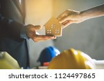transfer right of property to... | Shutterstock . vector #1124497865