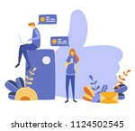vector illustration  flat style ... | Shutterstock .eps vector #1124502545