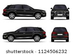 realistic suv car. front view ... | Shutterstock .eps vector #1124506232