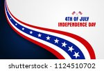 4th of july  fourth of july... | Shutterstock .eps vector #1124510702