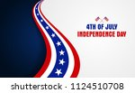 4th of july  fourth of july... | Shutterstock .eps vector #1124510708