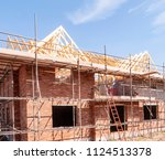 newly build homes in england uk | Shutterstock . vector #1124513378