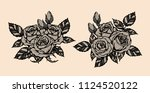 rose vector lace by hand... | Shutterstock .eps vector #1124520122