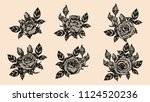 rose vector lace by hand... | Shutterstock .eps vector #1124520236
