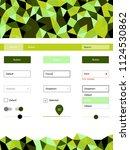 light green vector ui kit in...