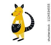 cute hand drawn nursery poster... | Shutterstock .eps vector #1124534555